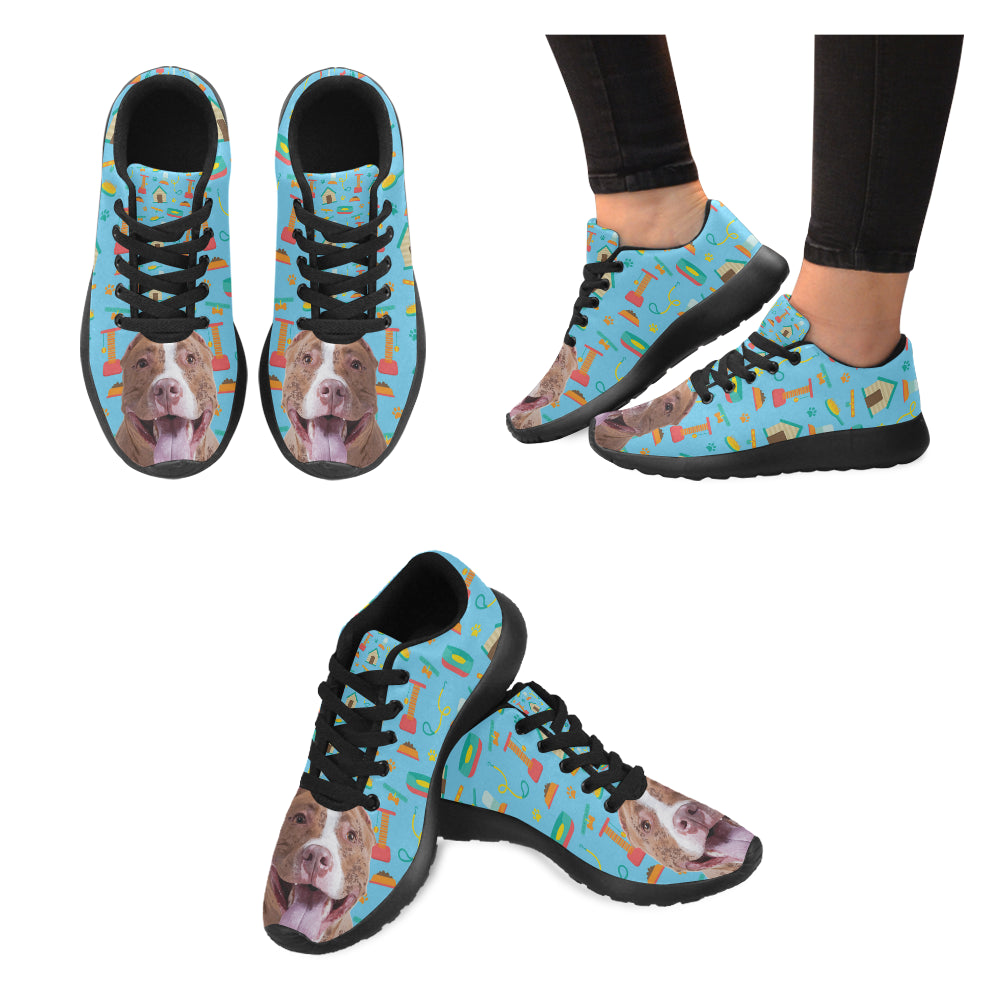 Pit bull Black Sneakers for Women - TeeAmazing
