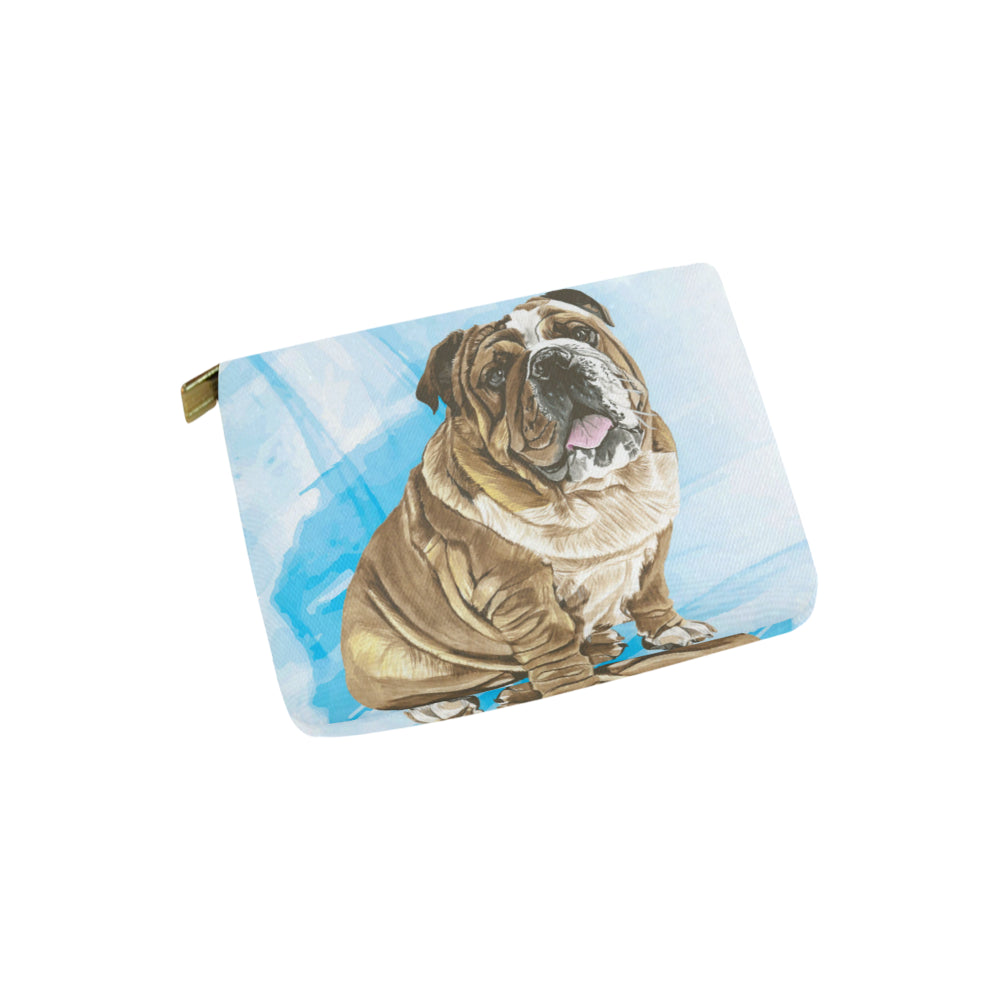 English Bulldog Water Colour No.1 Carry-All Pouch 6x5 - TeeAmazing