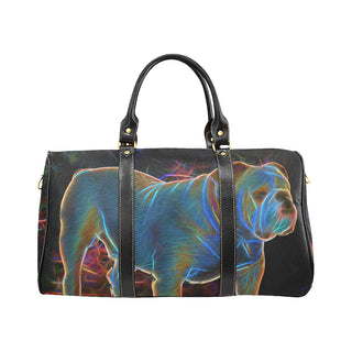 English Bulldog Glow Design 1 New Waterproof Travel Bag/Large - TeeAmazing