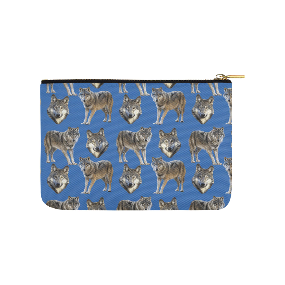 Wolf Pattern Carry-All Pouch 9.5x6 - TeeAmazing