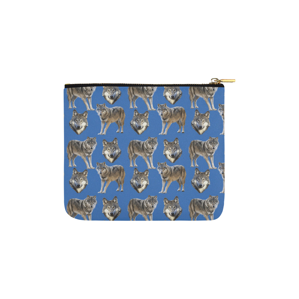 Wolf Pattern Carry-All Pouch 6x5 - TeeAmazing