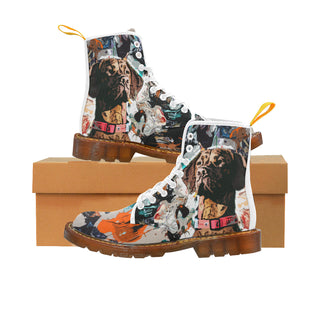 Vizsla White Boots For Women - TeeAmazing