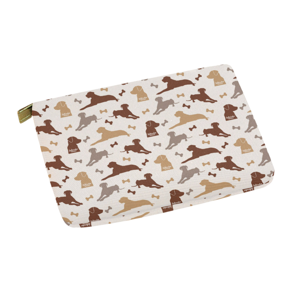 Labrador Retriever Pattern Carry-All Pouch 12.5x8.5 - TeeAmazing
