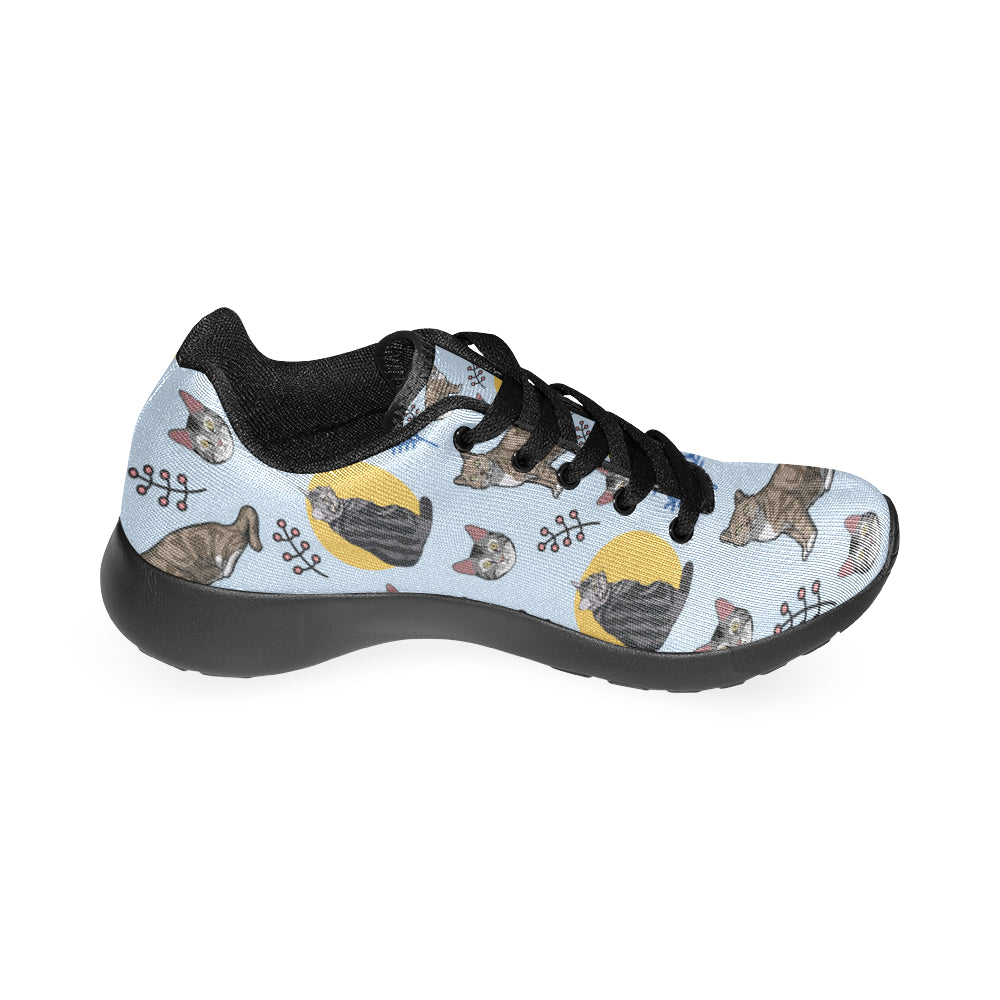 American Shorthair Black Sneakers Size 13-15 for Men - TeeAmazing