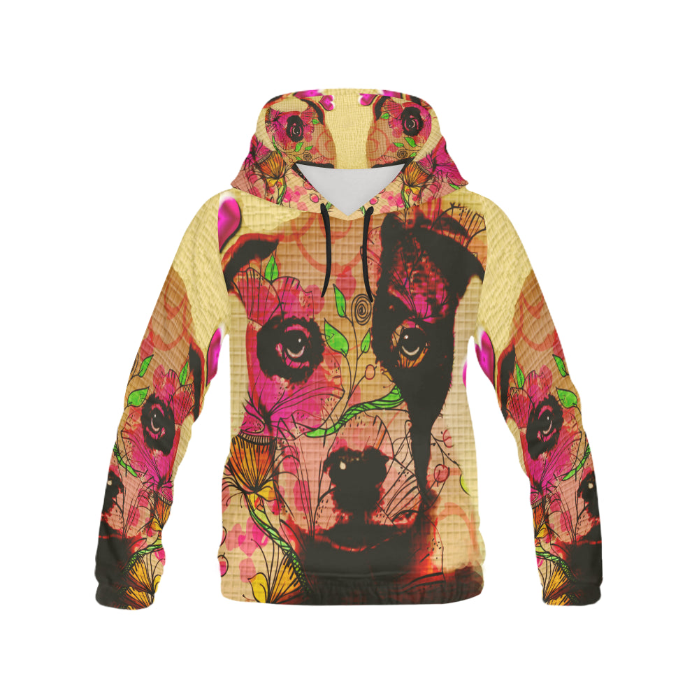 Pit Bull Pop Art No.4 Men's All Over Print Hoodie - TeeAmazing
