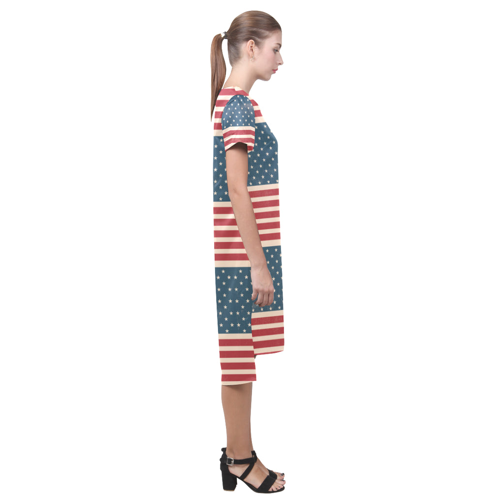 4th July V2 Short Sleeves Casual Dress - TeeAmazing