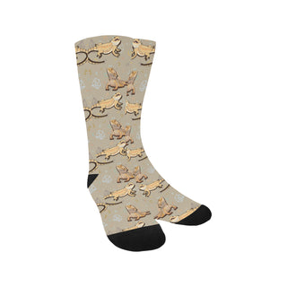 Bearded Dragon Lizard Pattern Trouser Socks - TeeAmazing