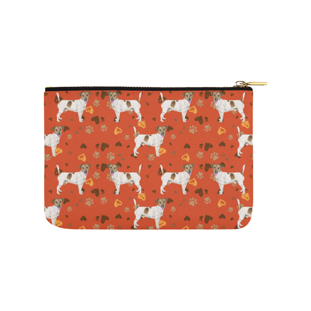 Jack Russell Terrier Water Colour Pattern No.1 Carry-All Pouch 9.5x6 - TeeAmazing