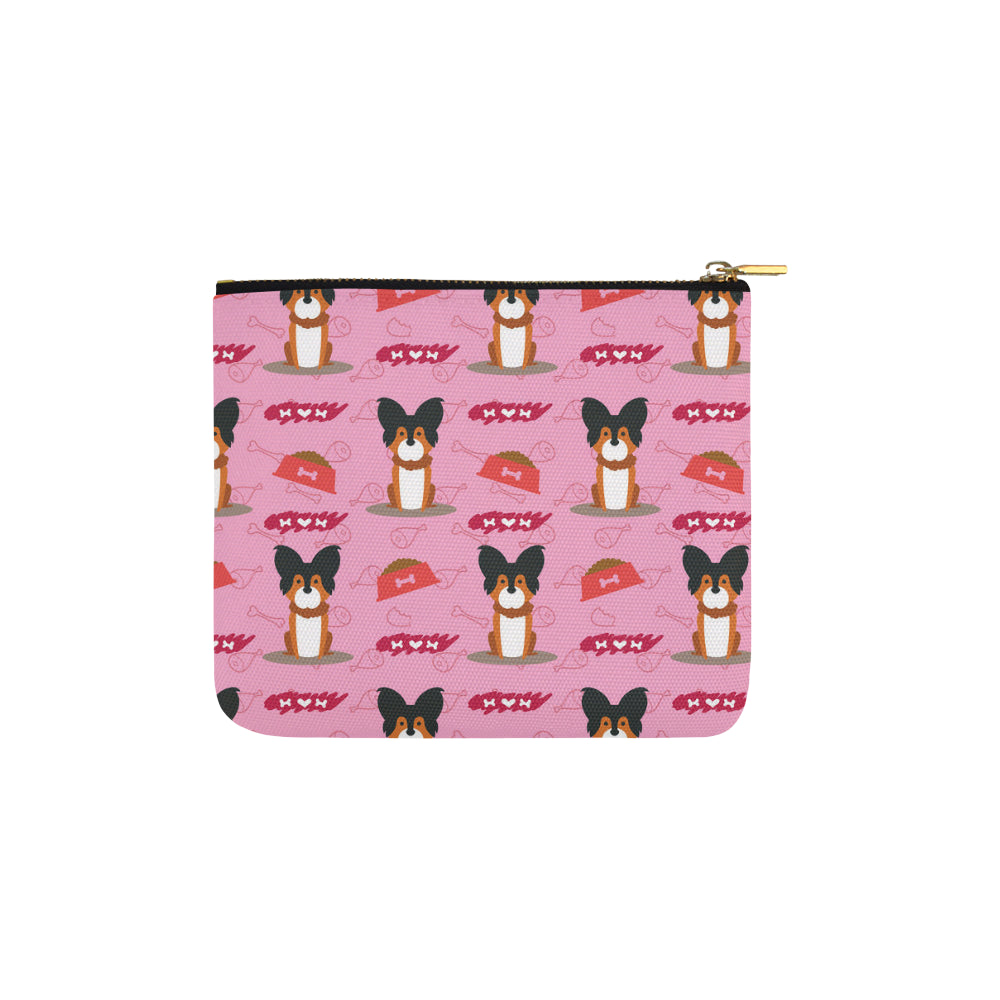 Papillon Pattern Carry-All Pouch 6x5 - TeeAmazing