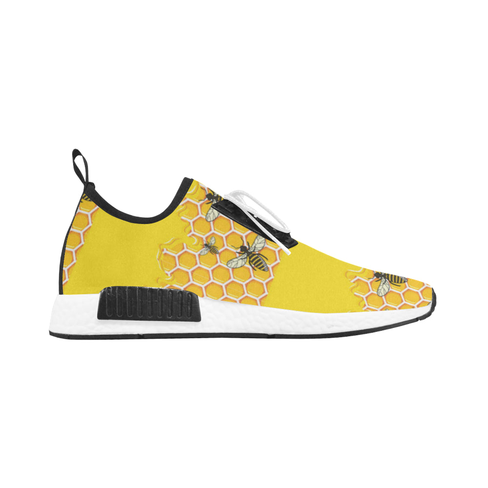 Bee Pattern Men's Draco Running Shoes - TeeAmazing