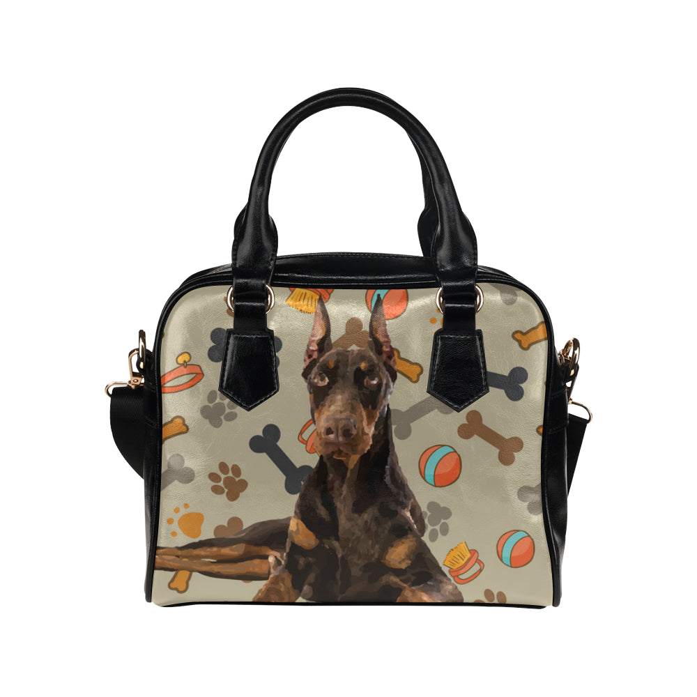 Doberman Dog Shoulder Handbag - TeeAmazing