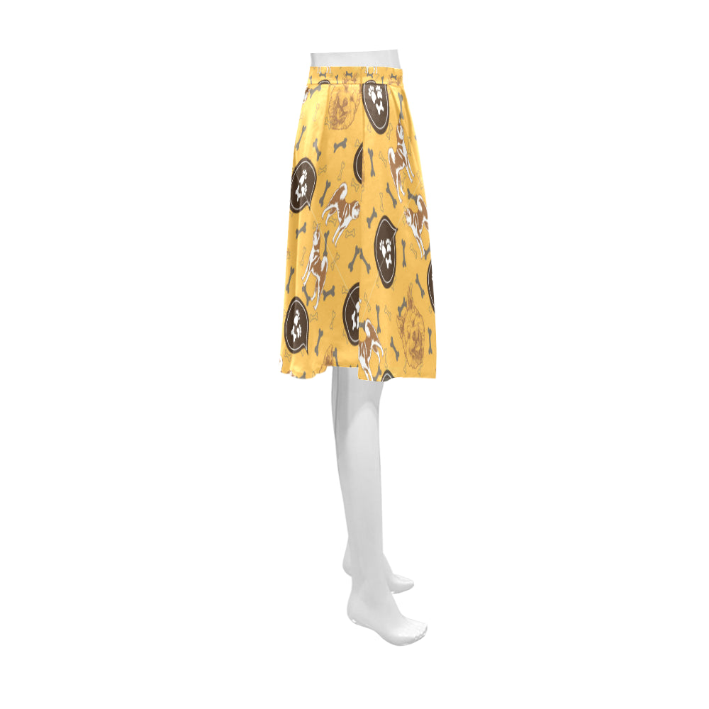 Akita Pattern Athena Women's Short Skirt - TeeAmazing