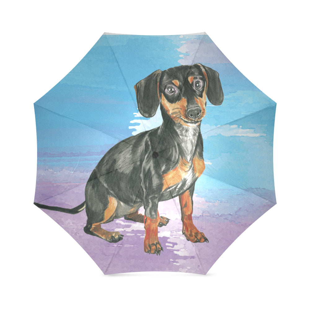 Dachshund Water Colour No.1 Foldable Umbrella - TeeAmazing