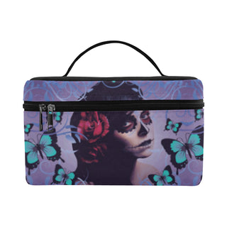 Sugar Skull Candy Cosmetic Bag/Large - TeeAmazing