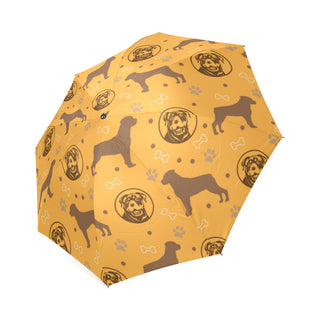 Rottweiler Pattern Foldable Umbrella - TeeAmazing