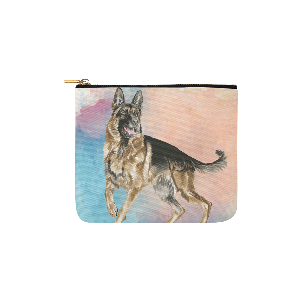 German Shepherd Water Colour No.1 Carry-All Pouch 6x5 - TeeAmazing