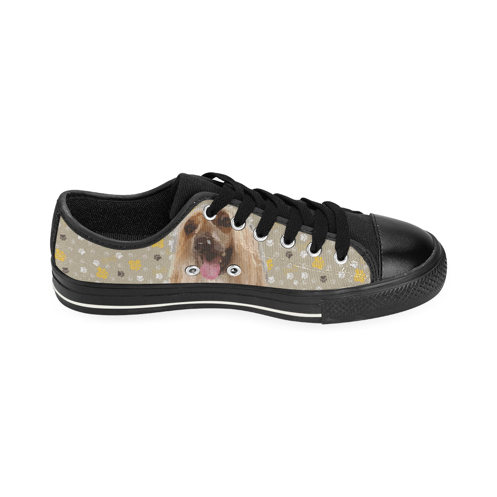 Afghan Hound Black Canvas Women's Shoes/Large Size - TeeAmazing