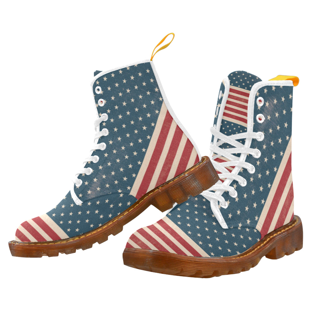 4th July V2 White Boots For Women - TeeAmazing