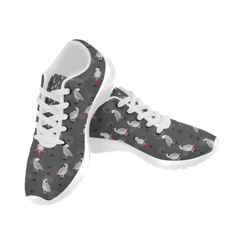 African Greys White Sneakers for Men - TeeAmazing