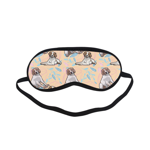 Brittany Spaniel Flower Sleeping Mask - TeeAmazing