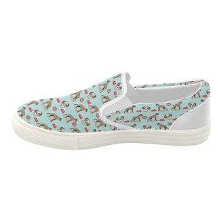 Boxer Pattern White Women's Slip-on Canvas Shoes - TeeAmazing