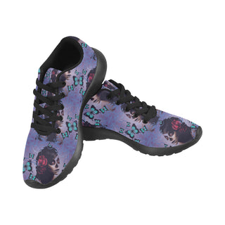 Sugar Skull Candy Black Sneakers Size 13-15 for Men - TeeAmazing