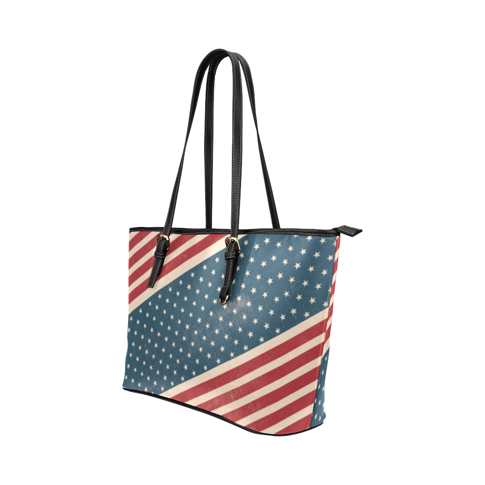 4th July V2 Leather Tote Bag/Small - TeeAmazing