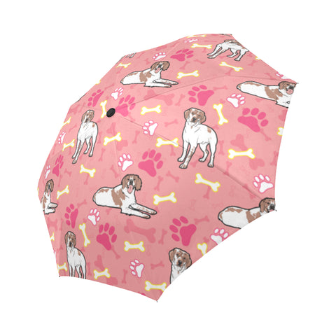 Brittany Spaniel Pattern Auto-Foldable Umbrella - TeeAmazing