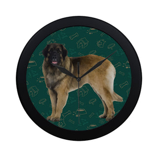 Leonburger Dog Black Circular Plastic Wall clock - TeeAmazing