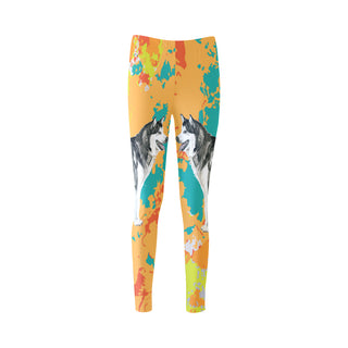 Alaskan Malamute Water Colour No.2 Cassandra Women's Leggings - TeeAmazing
