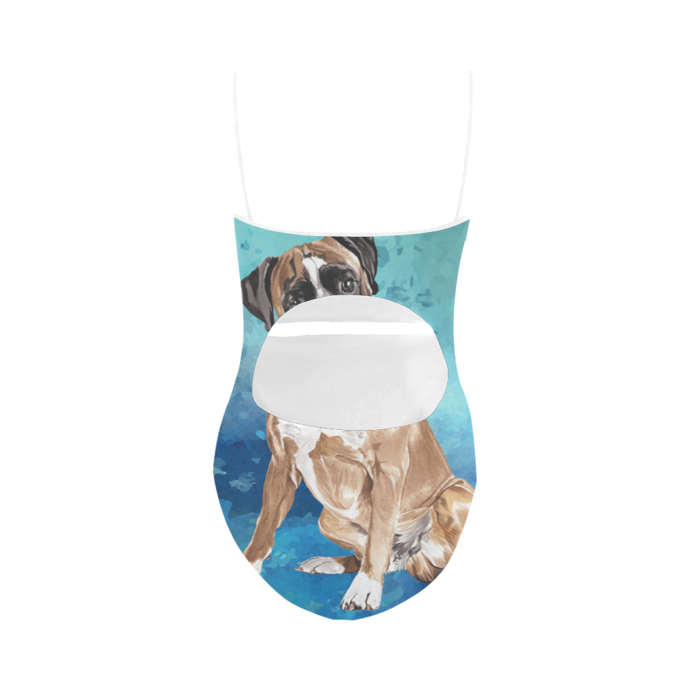 Boxer Water Colour Strap Swimsuit - TeeAmazing