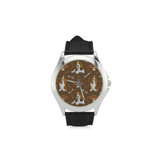 Basset Fauve Women's Classic Leather Strap Watch - TeeAmazing