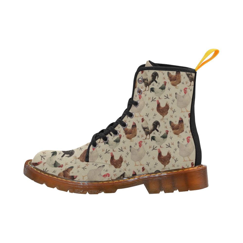 Chicken Black Boots For Women - TeeAmazing