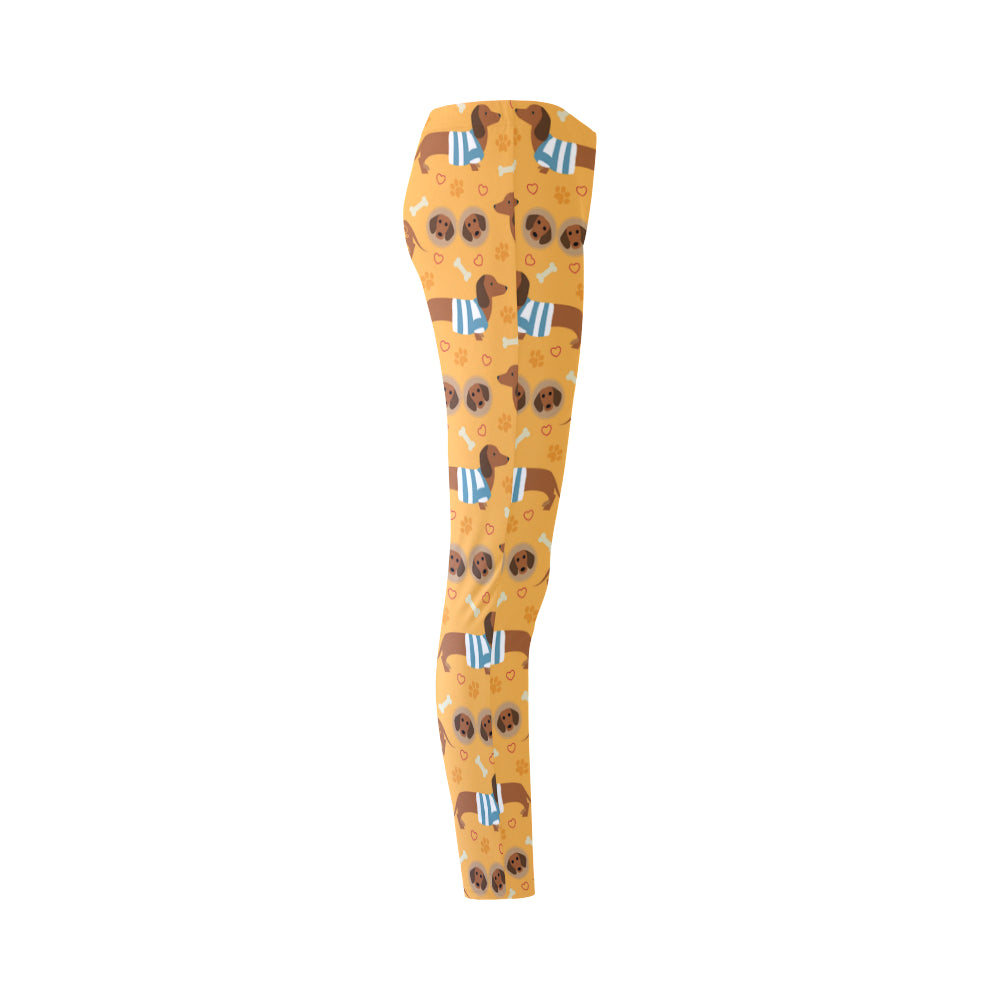 Dachshund Pattern Cassandra Women's Leggings - TeeAmazing