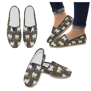 American Eskimo Dog Flower Women's Casual Shoes - TeeAmazing