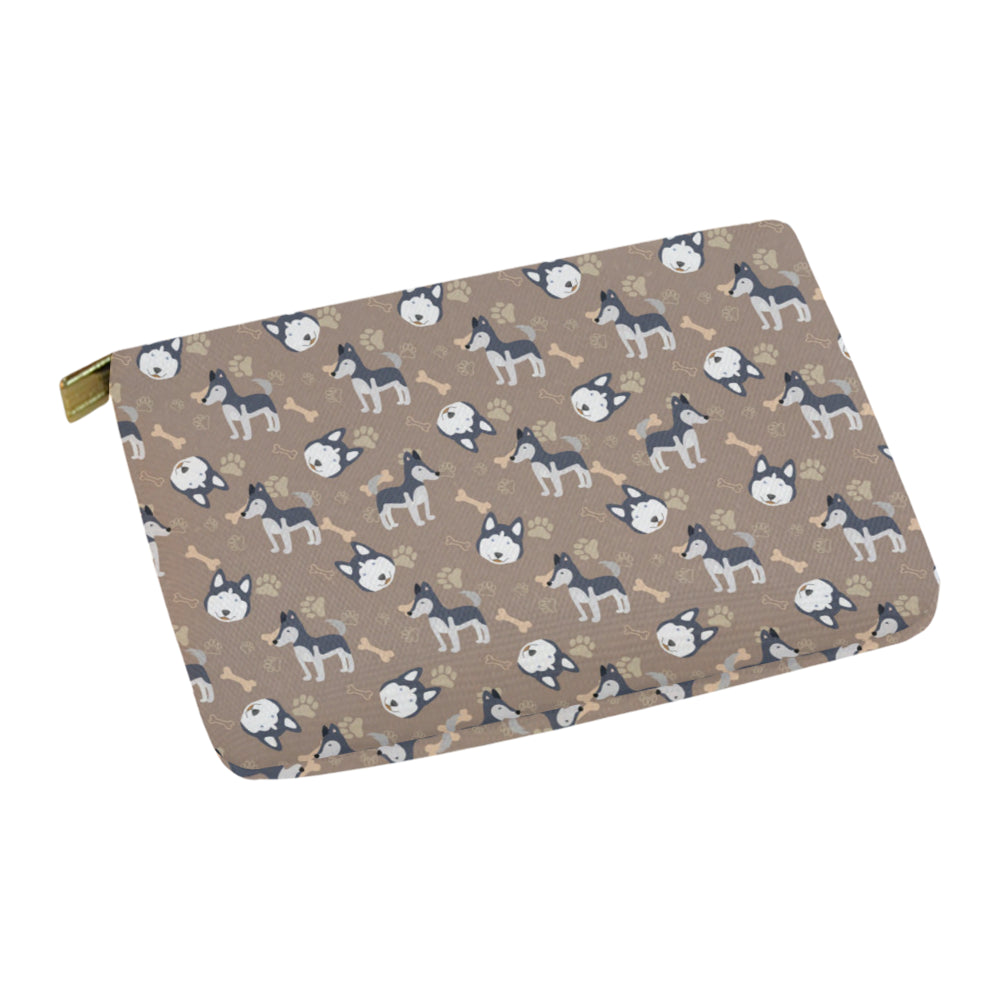 Siberian Husky Pattern Carry-All Pouch 12.5x8.5 - TeeAmazing