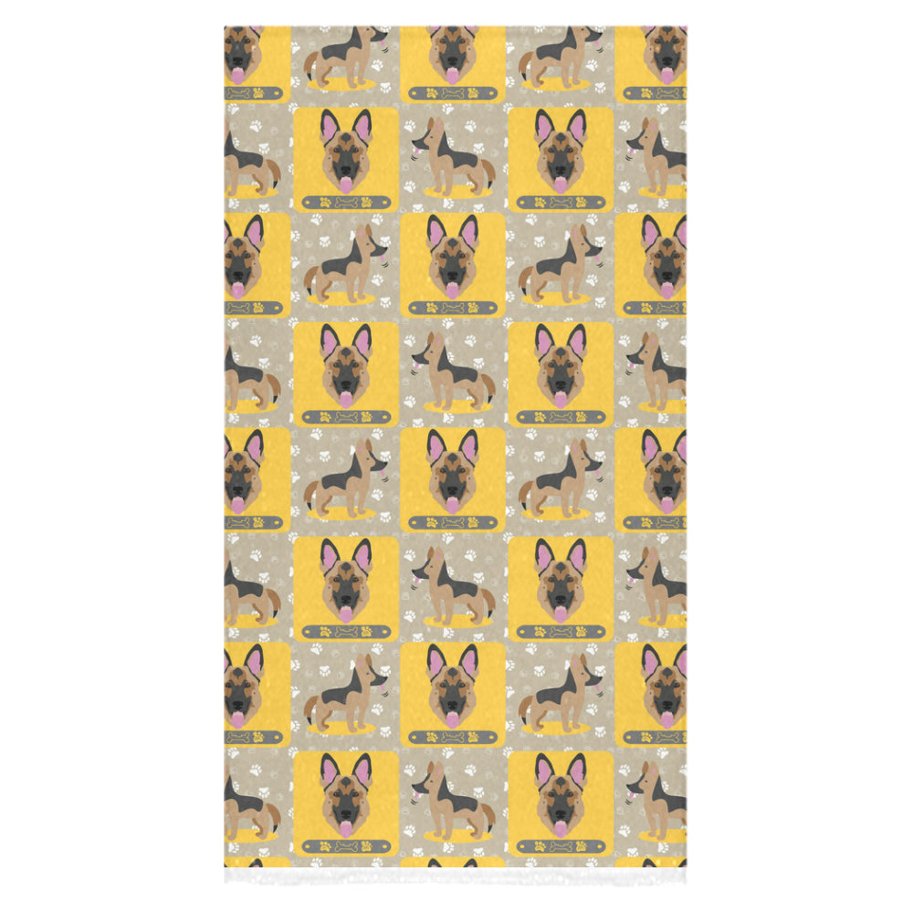 "German Shepherd Pattern Bath Towel 30""x56"" - TeeAmazing"