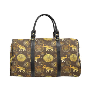 Elephant and Mandalas New Waterproof Travel Bag/Large - TeeAmazing