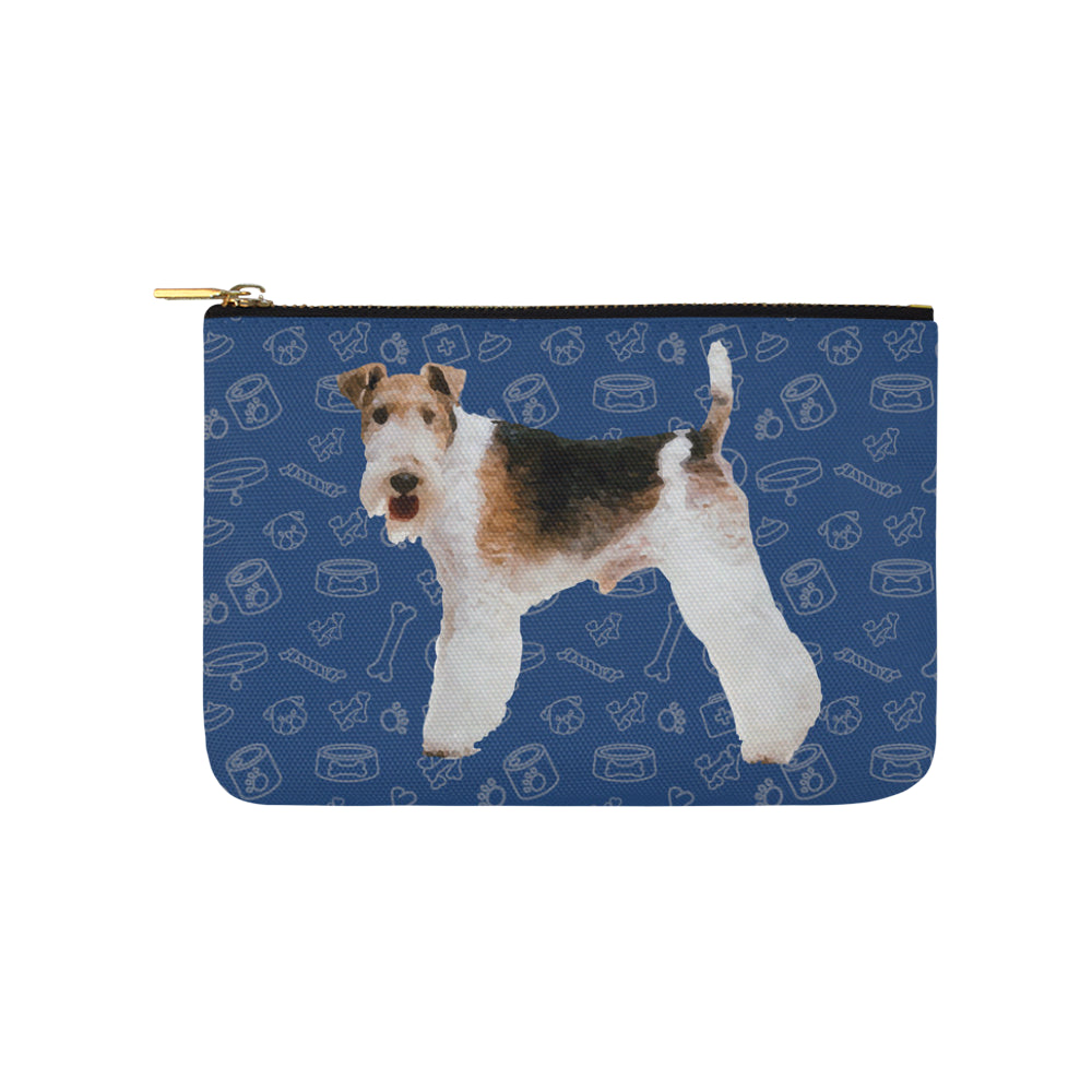 Wire Hair Fox Terrier Dog Carry-All Pouch 9.5x6