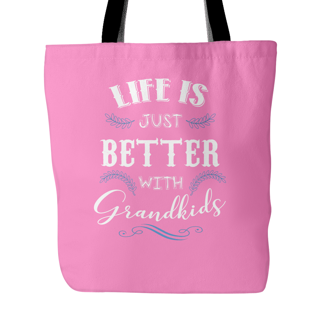 Life is Just Better With Grandkids Tote Bags - Grandma Bags - TeeAmazing