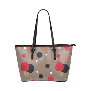 Ping Pong Pattern Leather Tote Bag/Small - TeeAmazing