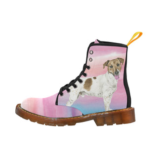 Jack Russell Terrier Water Colour No.1 Black Boots For Women - TeeAmazing