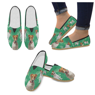 Jack Russell Terrier Lover Women's Casual Shoes (Model 004) - TeeAmazing