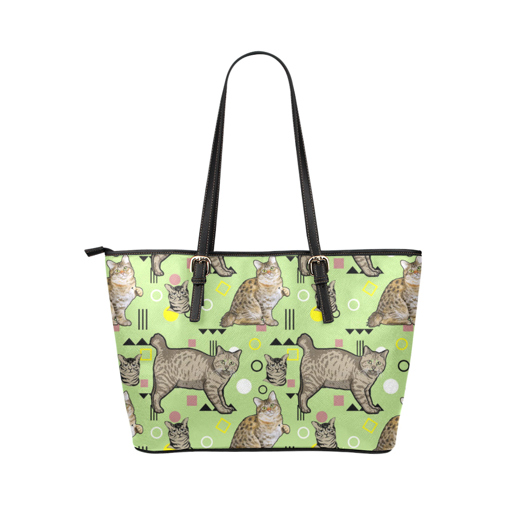 American Bobtail Leather Tote Bag/Small - TeeAmazing