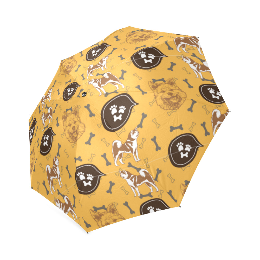 Akita Pattern Foldable Umbrella - TeeAmazing