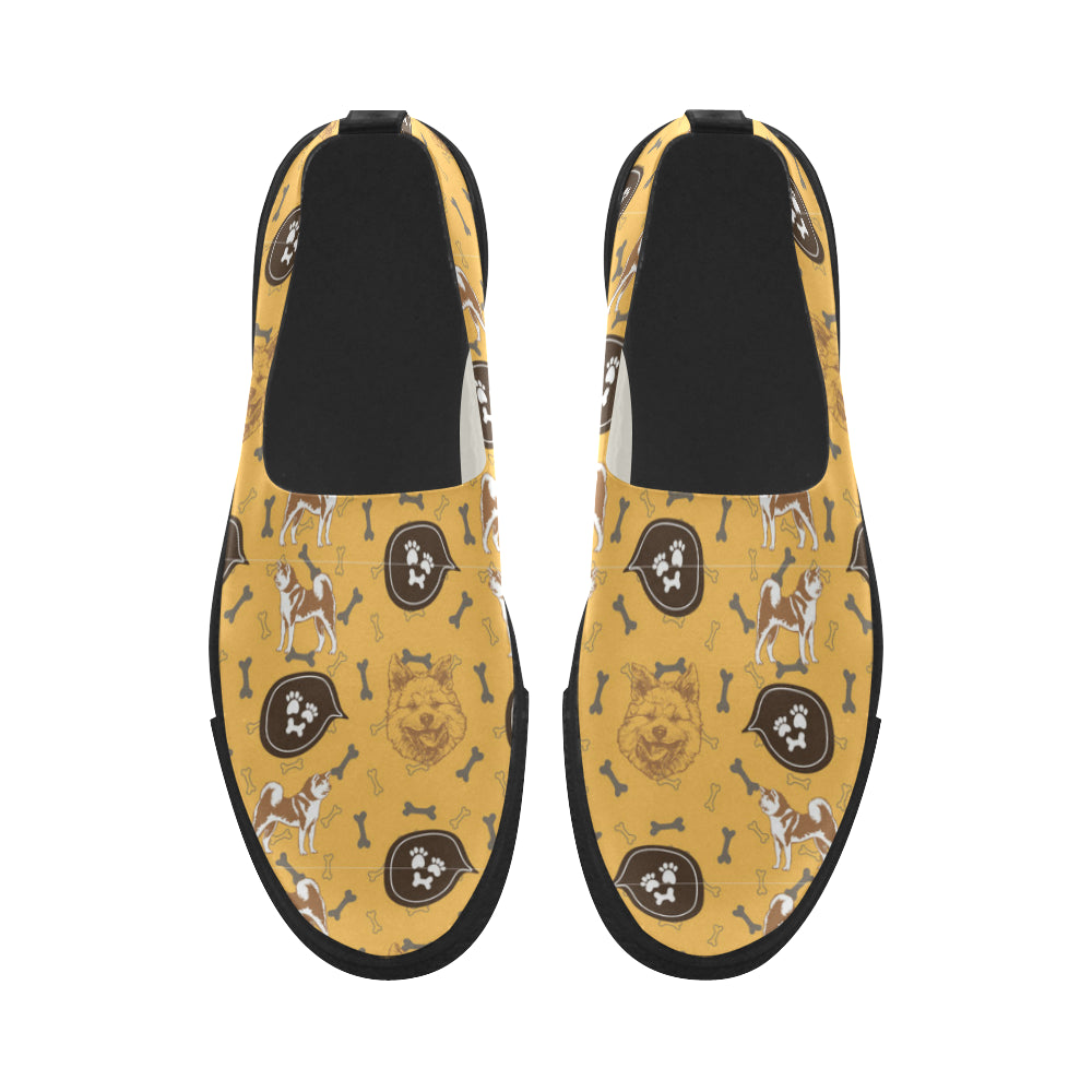 Akita Pattern Apus Slip-on Microfiber Women's Shoes - TeeAmazing