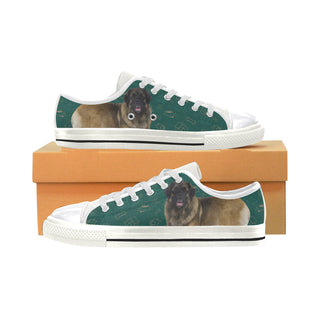 Leonburger Dog White Women's Classic Canvas Shoes (Model 018) - TeeAmazing