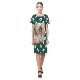 Skye Terrier Short Sleeves Casual Dress - TeeAmazing