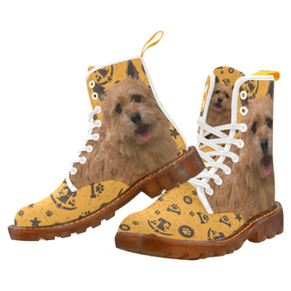 Norwich Terrier Dog White Boots For Men - TeeAmazing