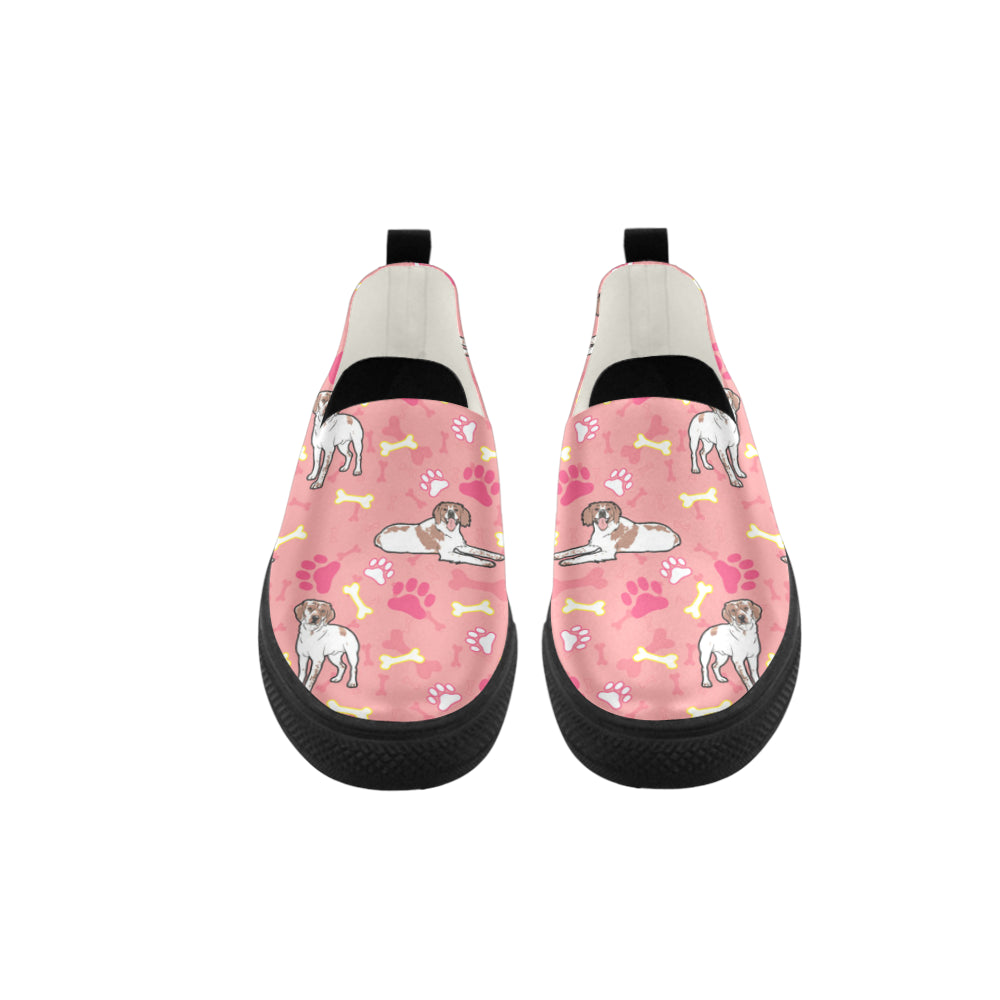 Brittany Spaniel Pattern Apus Slip-on Microfiber Women's Shoes - TeeAmazing